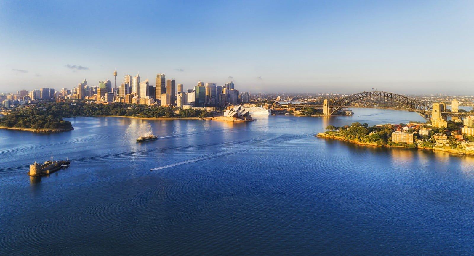 ville de sydney vu des gratte-ciels et de l'eau