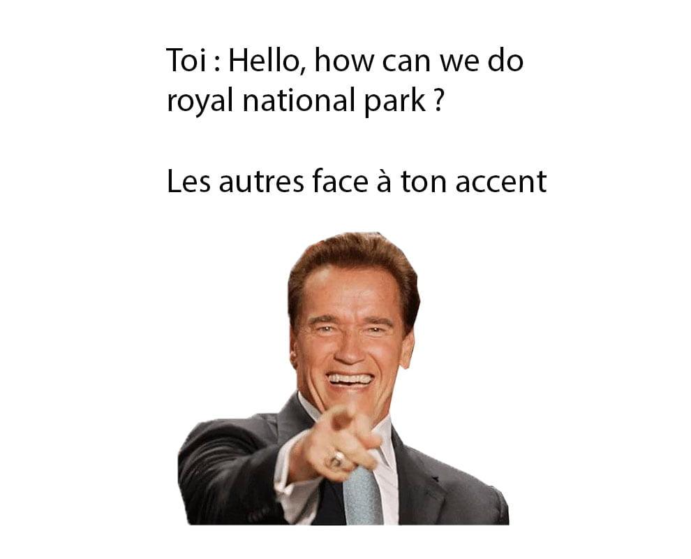 meme les français en australie