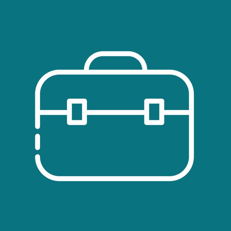 Icône valise pour le travail