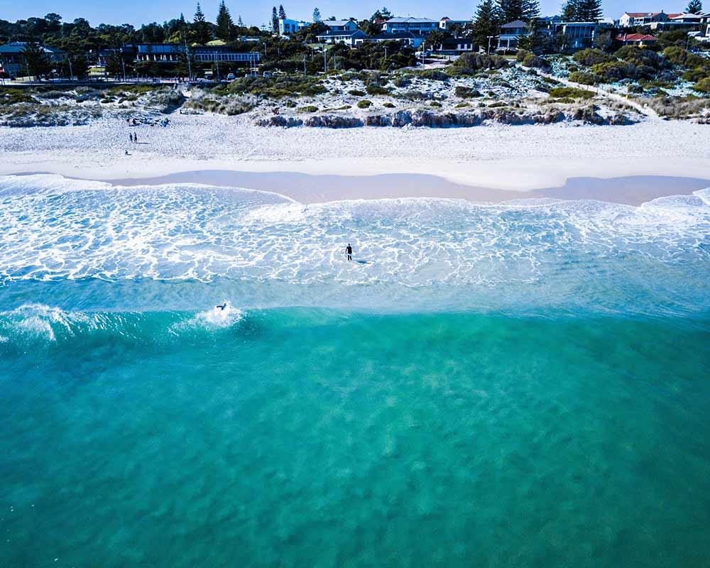 Plage de Perth avec eaux turquoises