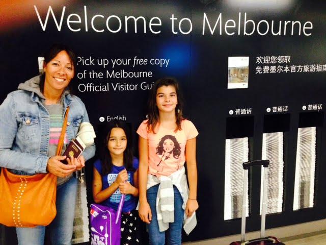 Famille Imbert arrivée à Melbourne